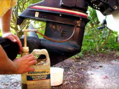 How To Change An Outboards Lower Unit Oil 1