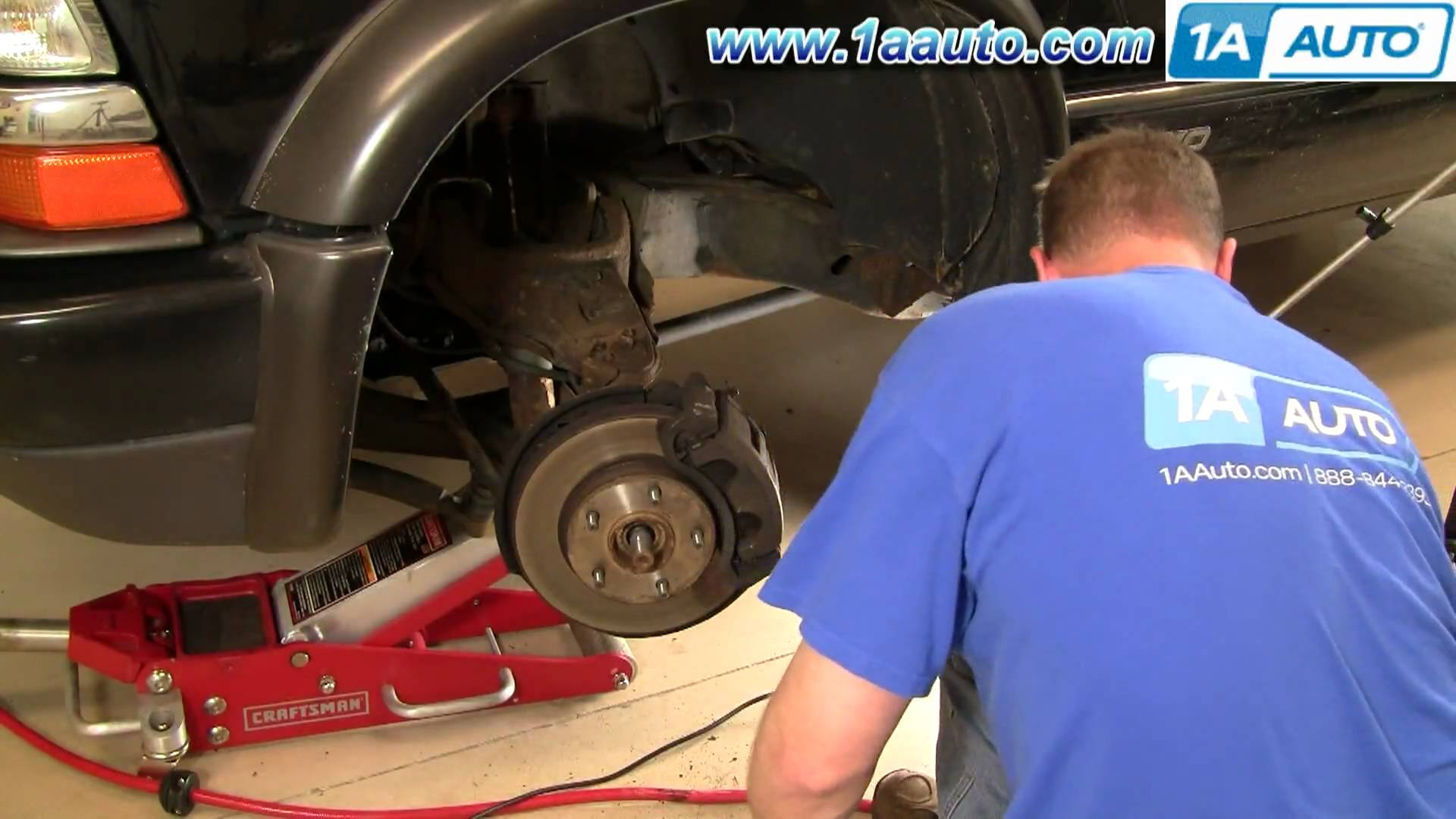 How To Install Replace Wheel Hub Bearing Chevy GMC S-10 S15 4x4 Part 1 1AAuto.com 2
