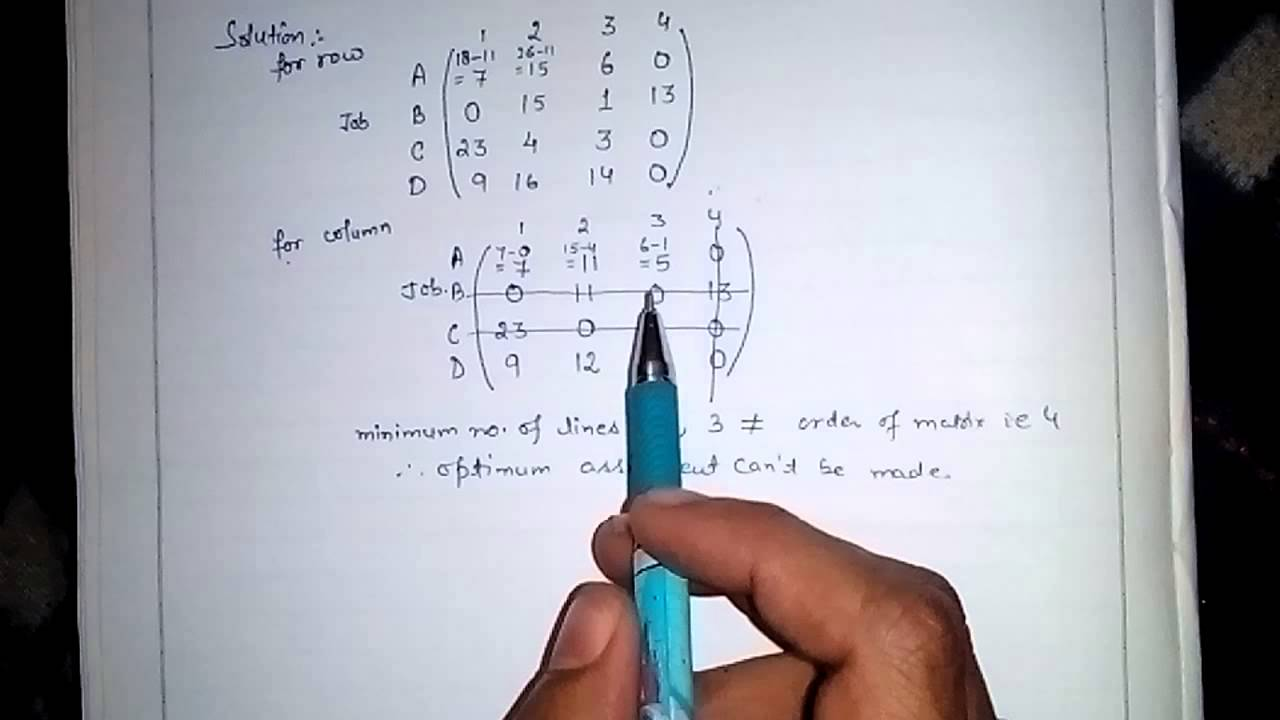 How To Solve An Assignment Problem #2 (Best way) 5