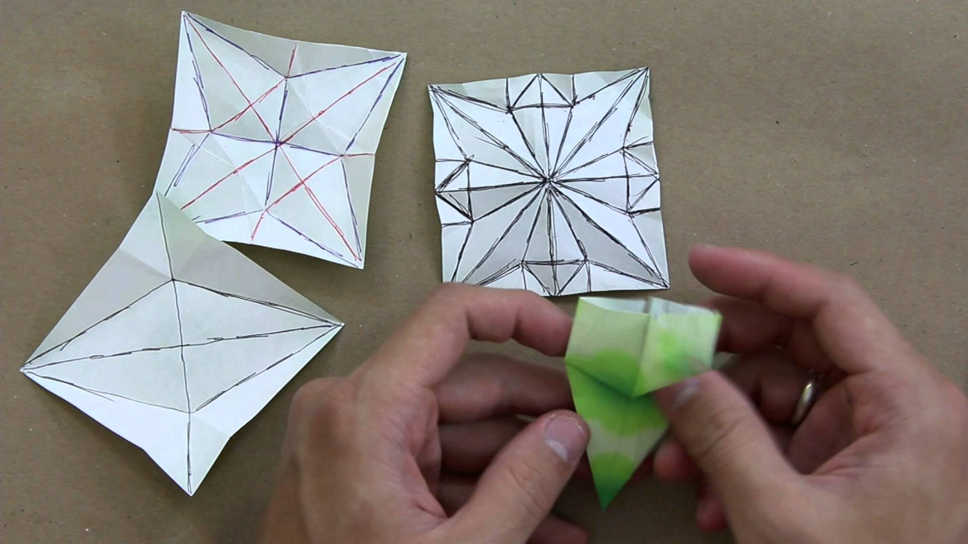 How to solve crease patterns (CP) - Advanced origami lessons 6