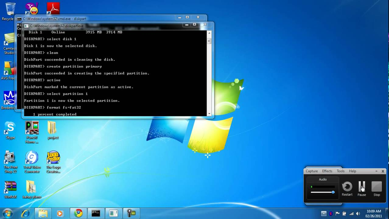 [How to]Repair a Corrupted Flash Drive using CMD (Command Prompt) 5