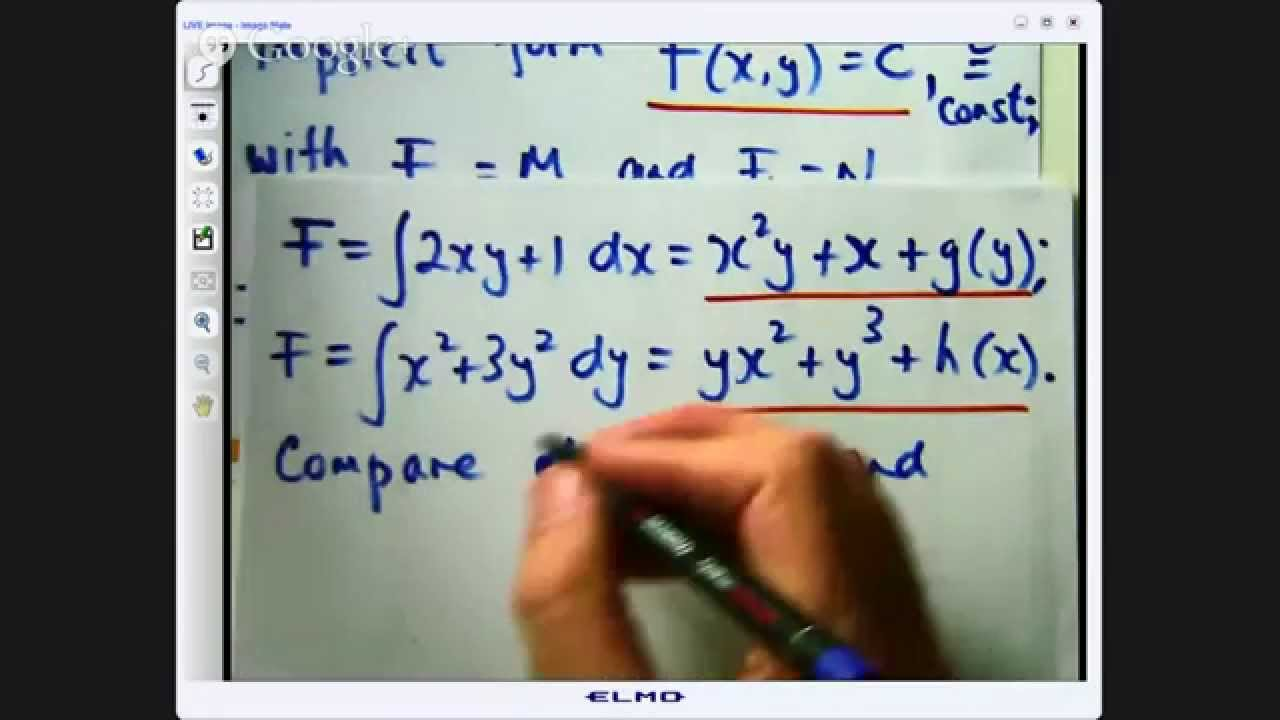 Exact differential equations: how to solve 3