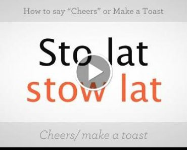 """How to Say """"Cheers"""" or Makes a Toast   Polskieserers Lesson 6"""