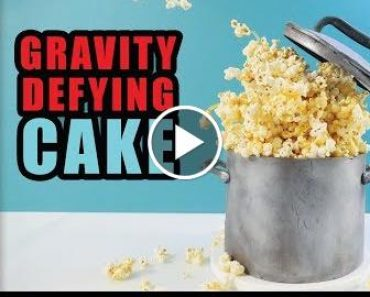 Gravitate Defying Caramel Popcorn Cake | How To   Ann Reardon 2