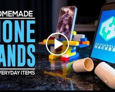 DIY Fone Stands From HouseHold Items 2