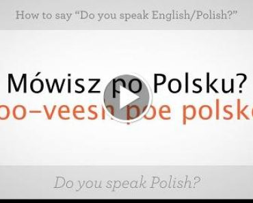 """How to Say """"Do You  English"""" 