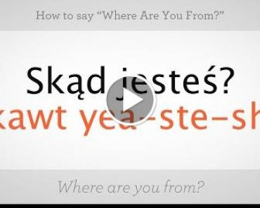 """How to Say """"Where Are You From"""" 