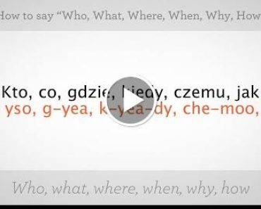"How to Say ""Who"" ""What"" ""Where"" & ""When"" 