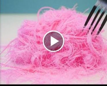 Pink Edible Hair | Pashmak Recipes | Dragons Beard | Cotton Candy | How To Cooks That 5