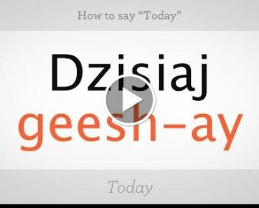 "How to Say ""Today"" in  