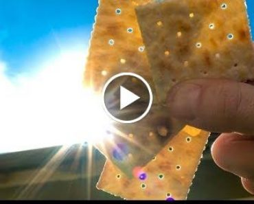 How to View the Solar sss with a Saltine Cracker! 2