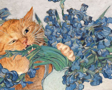 Fat Cat Art: I Insert My Ginger Cat Into Famous Paintings (20+ New Pics) 11